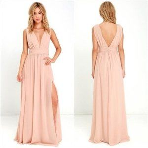 Lulus Heavenly Hues maxi prom bridesmaids dress